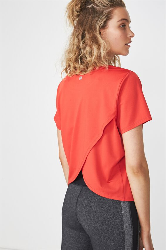 Envelope Back T-Shirt, PAPRIKA RED
