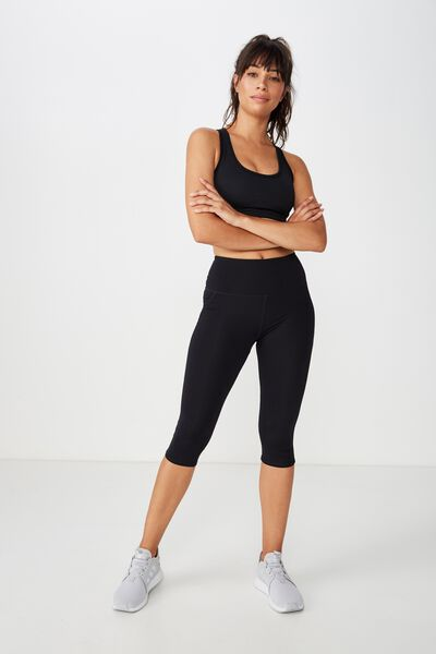 Sculpt Capri Tight, BLACK