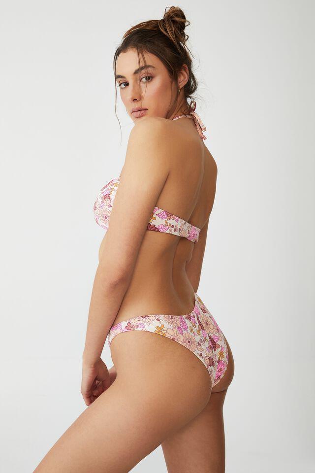 High Side Brazilian Seam Bikini Bottom, RESORT FLORAL PINKS