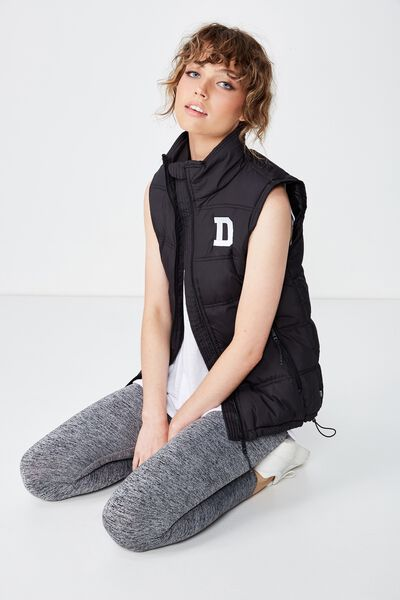 Personalised Puffer Vest, BLACK