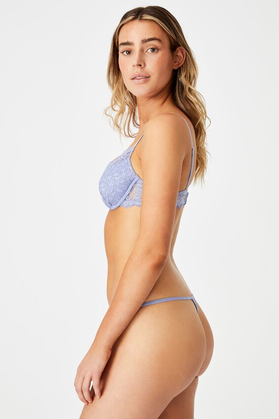 Ivy Lace Tanga G String Brief, PERIWINKLE