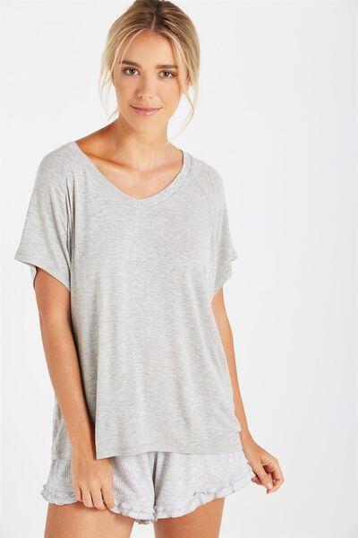 Premium Sleep Raglan Tshirt, GREY MARLE