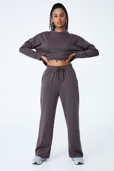 Lifestyle Wide Leg Trackpant, PEPPERCORN
