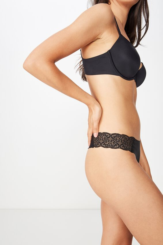Party Pants Seamless G-String Brief, BLACK