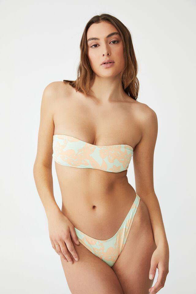 Sweetheart Crop Bikini Top, HIBISCUS VINE MINT CHIP