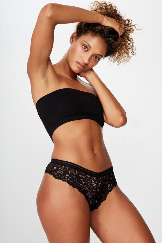 Olivia Brasiliano Brief, BLACK