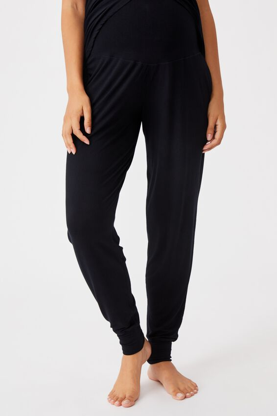 Sleep Recovery Maternity Pant, BLACK