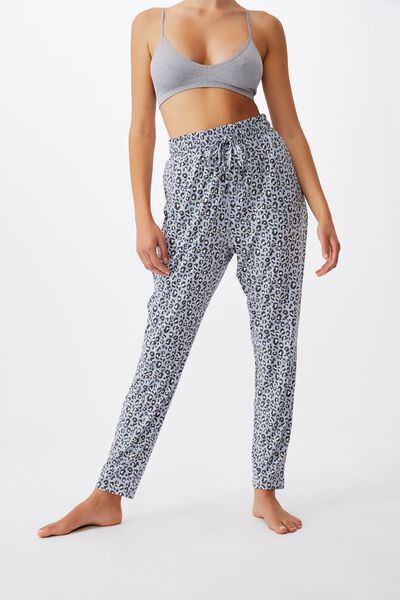 The Lounge Pant, MICRO LEOPARD/BALTIC BLUE