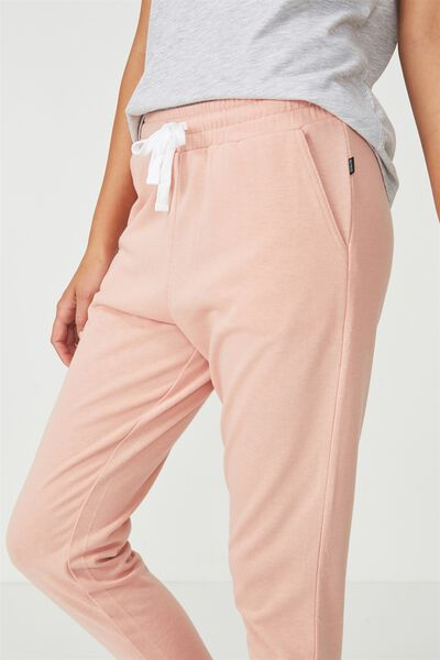 Tapered Leg 7/8 Trackpant, PETAL PINK