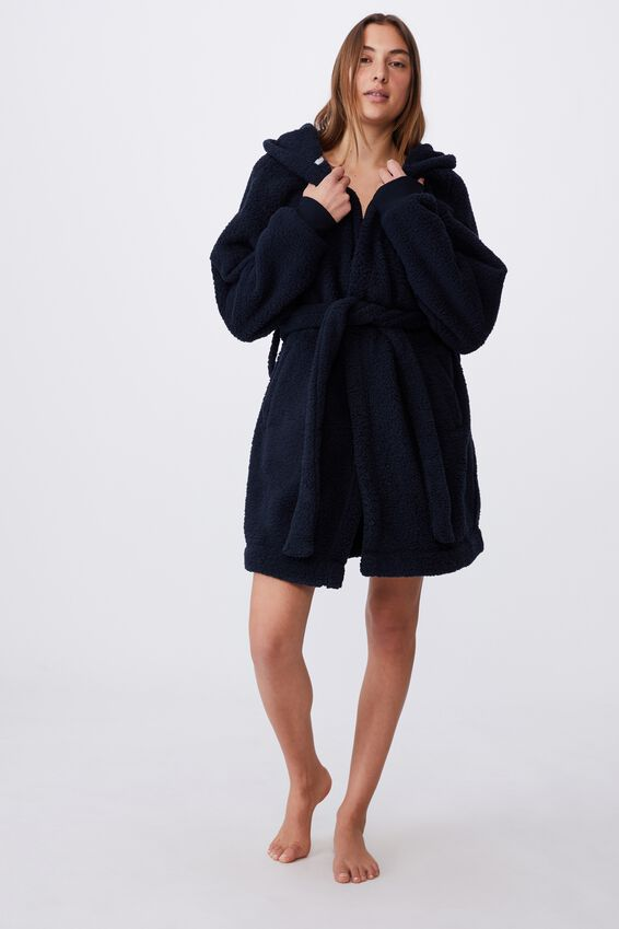 The Lounging Robe Personalisation - Back, NAVY