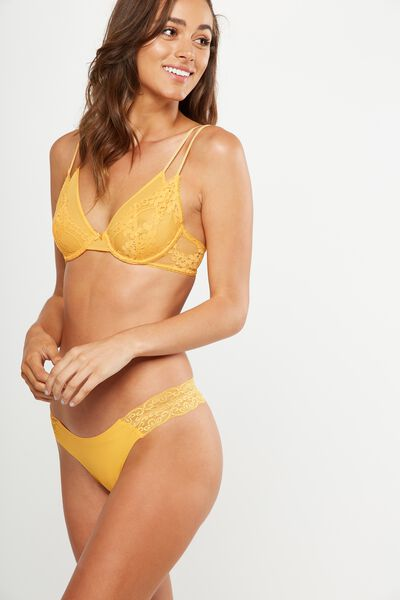 Party Pants Seamless G-String Brief, PINEAPPLE