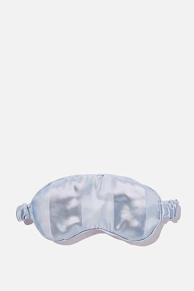 Satin Eyemask, AIRY BLUE STRIPE