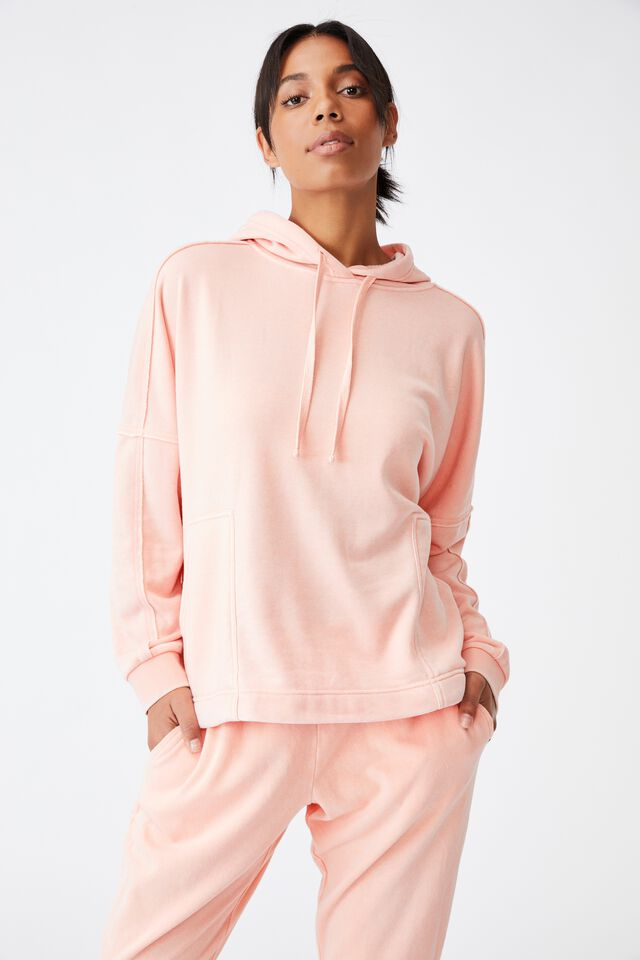 Lifestyle Relaxed Hoodie, WASHED APRICOT