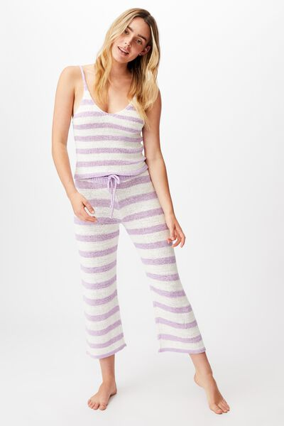 Summer Lounge Pant, ORCHID STRIPE