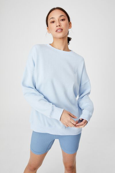 Lifestyle Long Sleeve Personalised Crew Top, BABY BLUE