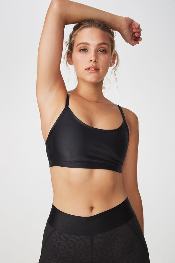 Workout Yoga Crop, BLACK SHIMMER