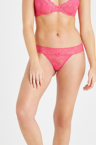 Sophia Lace G-String, HOT PINK
