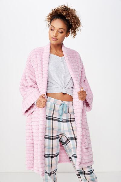 Kimono Plush Gown, TONAL MOONLIGHT LILAC