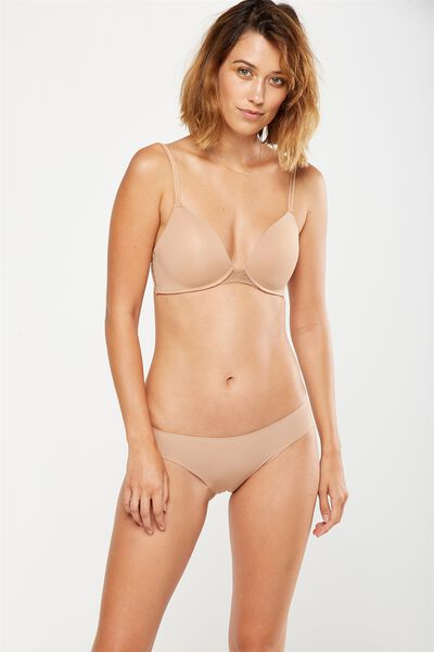 Party Pants Seamless Bikini Brief, CINNAMON