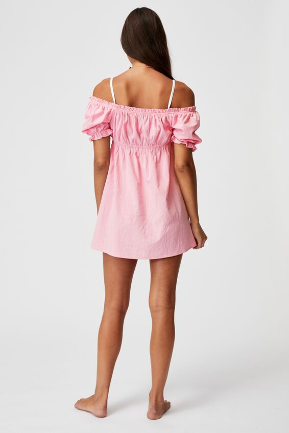 Puff Sleeve Beach Dress, PRIMROSE