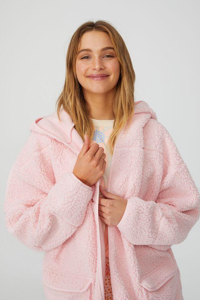 Oversized Snuggle Cardigan, PRETTY PINK