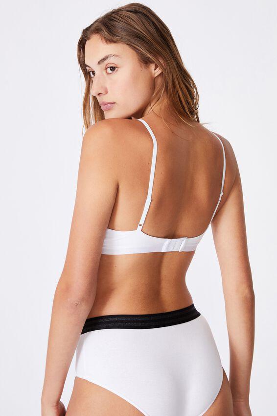 Sporty Femme Bralette, MIDNIGHT/WHITE