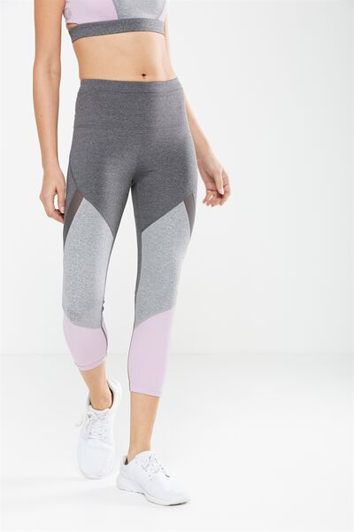 Tone Up Crop Tight, CONCRETE/LILAC DREAM