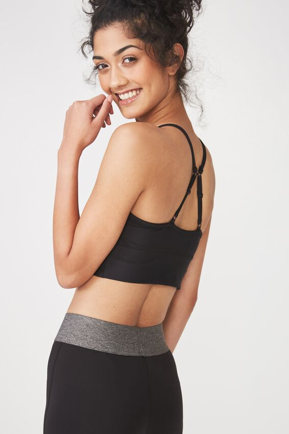 Longline Studio Crop, BLACK