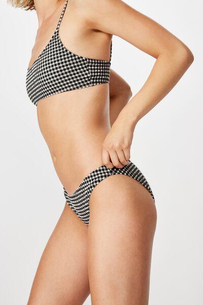 Classic Full Bikini Bottom, BLACK AND WHITE GINGHAM