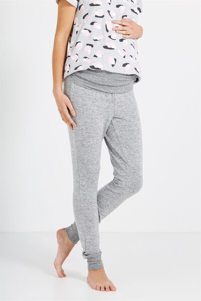 Maternity Supersoft Long John Pant, GREY MARLE