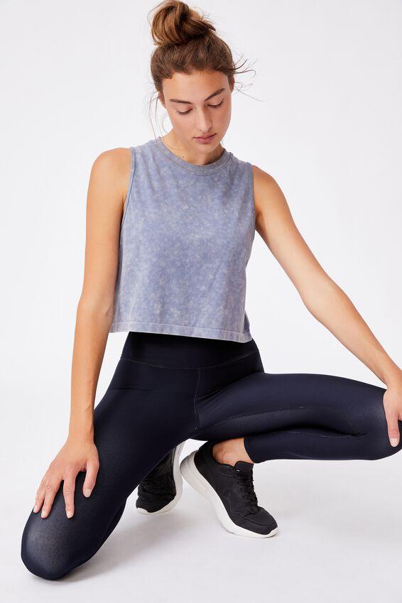 Lifestyle Seamless Yoga Cropped Tank, BLUE JAY WASH