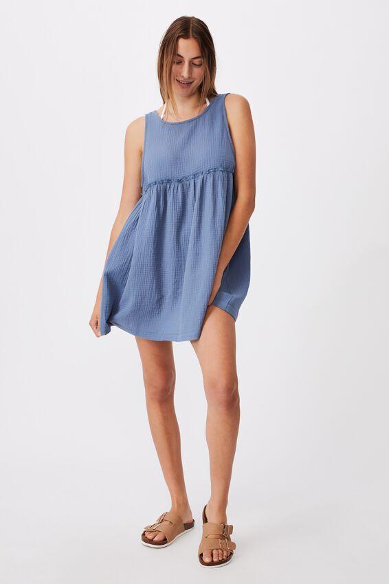 Drop Armhole Beach Dress, MARINA BLUE