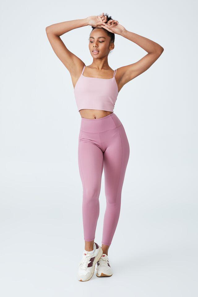 Highwaisted Yoga Full Length Tight, SUMMER ROSE
