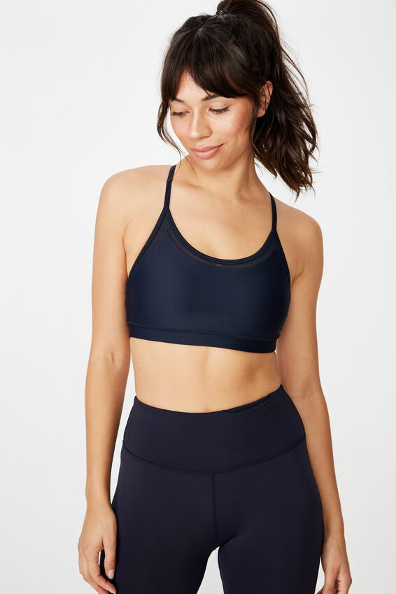 Mesh Strappy Crop, NAVY