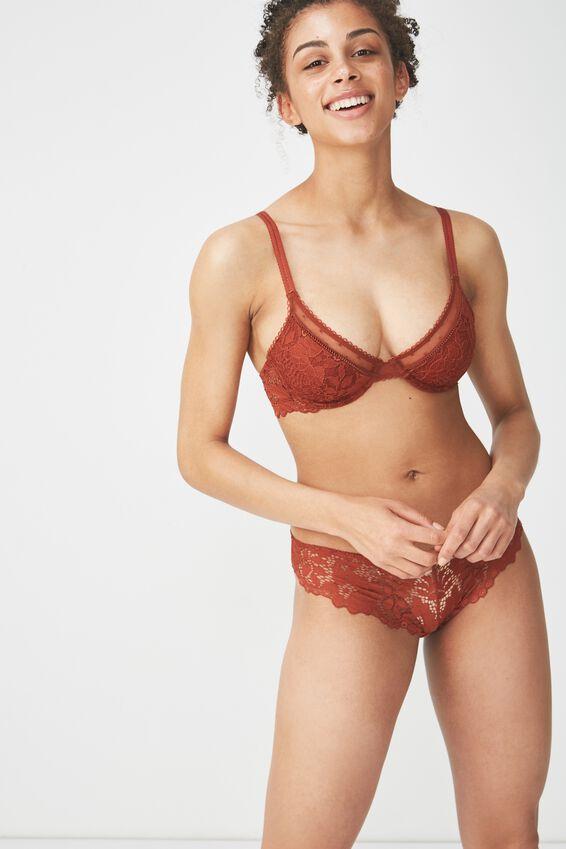 Maddie Bikini Brief, BURNT RUST