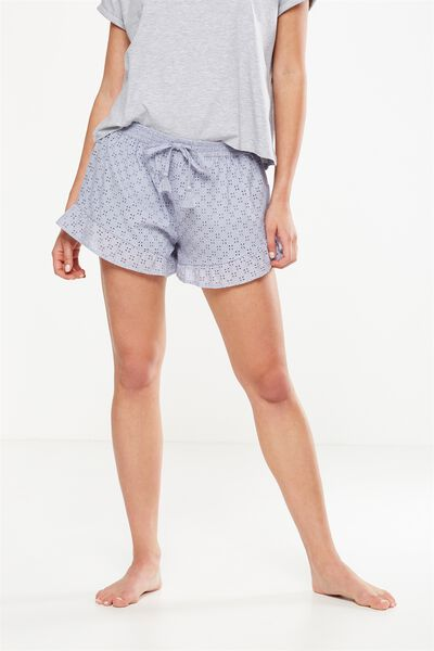 Textured Bedtime Shortie, ELECTRIC LILAC