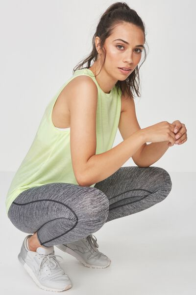 Mock Neck Tank Top, LIMELIGHT