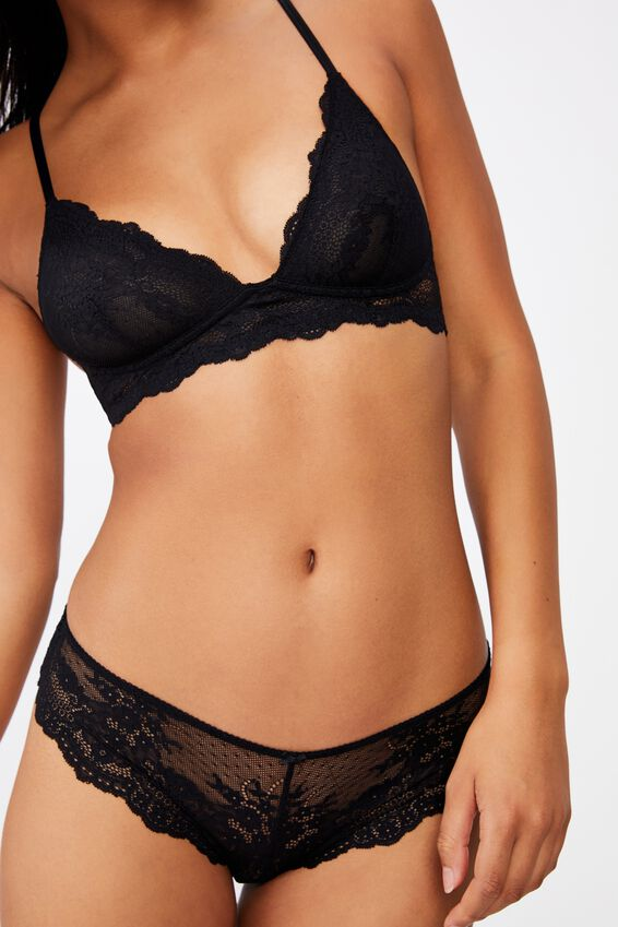 Zoe Unlined Wirefree Bra, BLACK