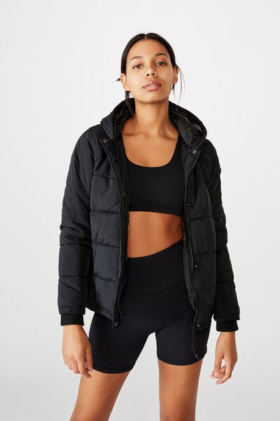 The Mother Packable Puffer, BLACK