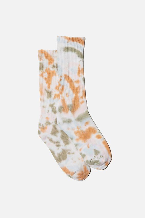 Staycation Sock, EARTH TIE DYE