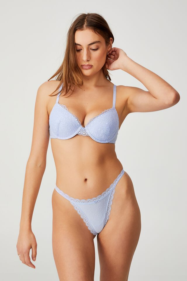 Fifi Lace Tanga G String Brief, SERENITY
