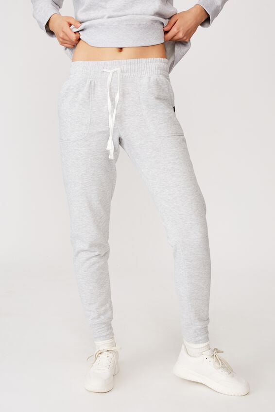 Gym Track Pants, CLOUDY GREY MARLE