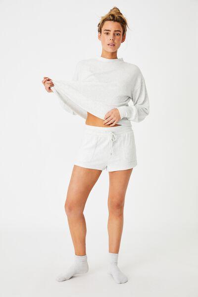 Super Soft Pocket Short, SOFT GREY MARLE