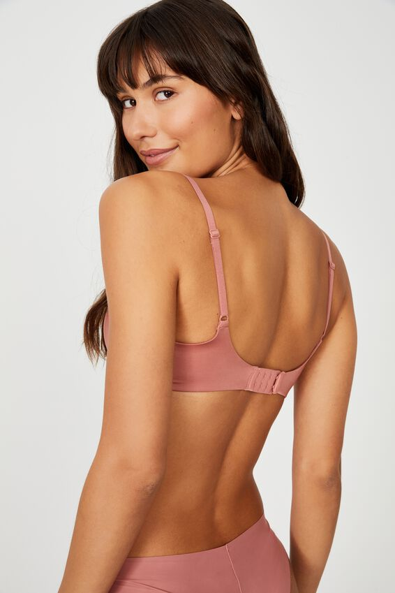 Ultimate Comfort T-Shirt Bra, WOOD ROSE