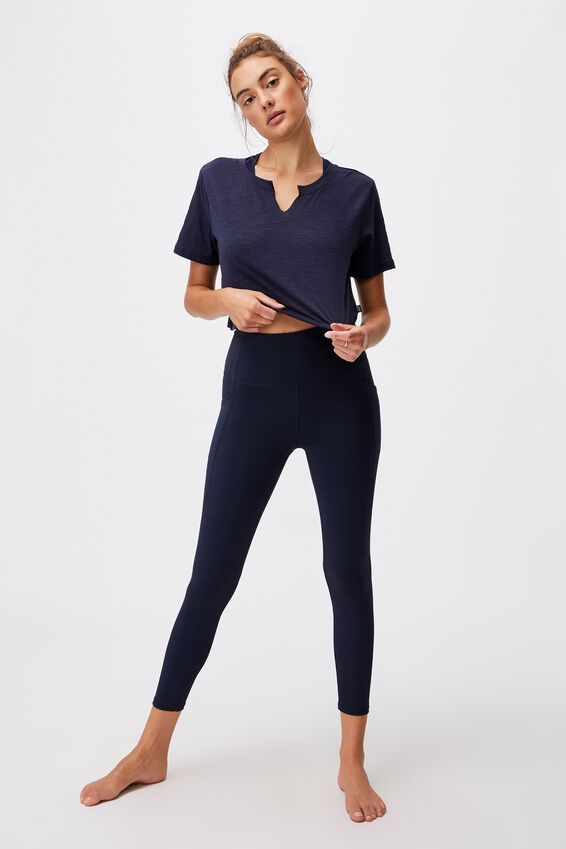 All Things Fabulous Cropped Tshirt, NAVY