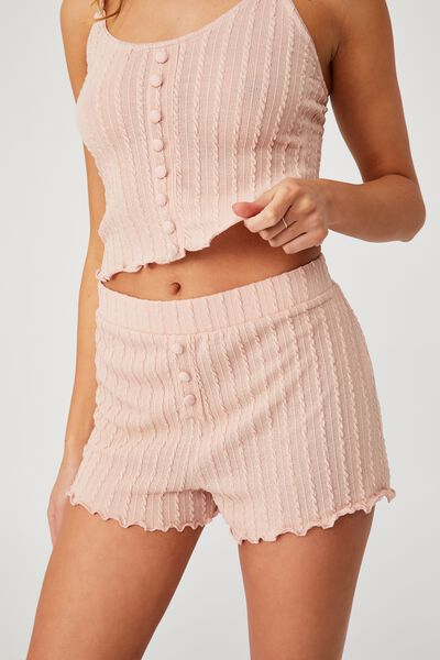 Knit Bed Short, MARSHMALLOW PINK