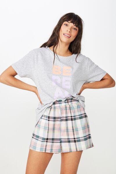 Woven Paperbag Short, LIMELIGHT CHECK