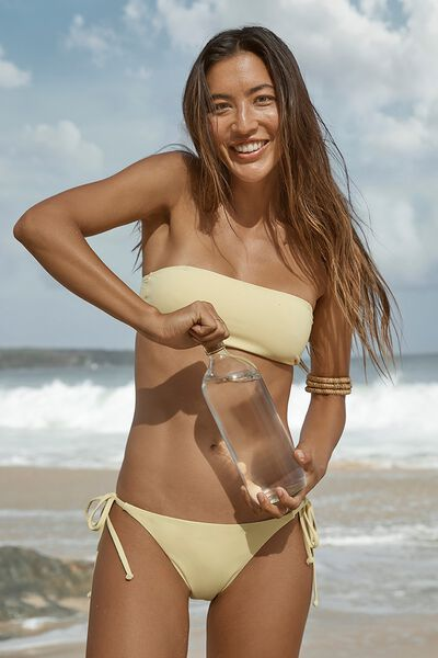 Summer Bandeau Bikini Top, LEMON