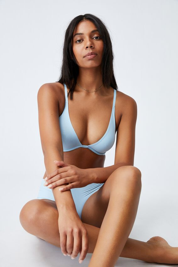 Ultimate Plunge Underwire Bra, CLEAR SKY