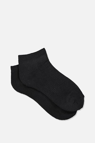 Reggie Active Basic Sock, BLACK